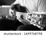 Close Up Of A Guy Playing The...