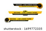 vector  lower third or... | Shutterstock .eps vector #1699772335