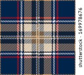 Blue Seamless Tartan Design