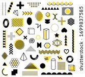 mega pack of black and yellow... | Shutterstock .eps vector #1699837585