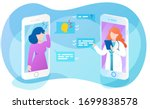 online doctor app interface ...   Shutterstock .eps vector #1699838578