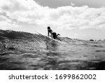 Surf Girl Longboard Waves...