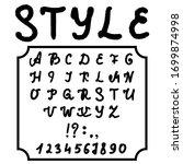 hand drawn typeface set... | Shutterstock .eps vector #1699874998
