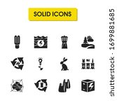 eco icons set with power of...