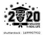 2020 quarantine graduation...   Shutterstock .eps vector #1699907932