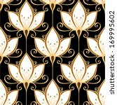 Seamless Ornate Floral Pattern...