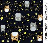 vector seamless pattern of owl   Shutterstock .eps vector #1699959328