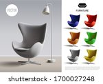 realistic furniture concept... | Shutterstock .eps vector #1700027248