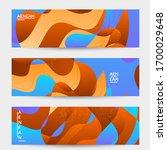 abstract vector wavy pattern... | Shutterstock .eps vector #1700029648
