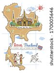 a map depicting the tourist... | Shutterstock . vector #170005646