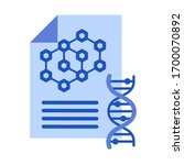 dna sign with document. test... | Shutterstock .eps vector #1700070892
