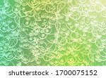 light green vector pattern with ... | Shutterstock .eps vector #1700075152