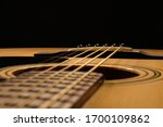 Acoustic Guitar Close Up On A...