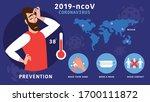 corona virus 2019 common signs...   Shutterstock .eps vector #1700111872
