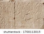 Egyptian Hieroglyphs On The...
