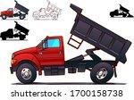 dump truck. side view isolated...   Shutterstock .eps vector #1700158738