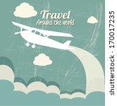 travel design over blue ... | Shutterstock .eps vector #170017235