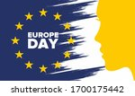 europe day. annual public... | Shutterstock .eps vector #1700175442