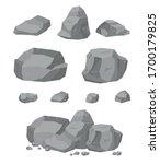rock stone big cartoon set.... | Shutterstock .eps vector #1700179825