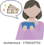 an illustration of woman who... | Shutterstock .eps vector #1700225752