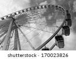 Large Ferris Wheel Against...