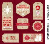 christmas labels and gift tags | Shutterstock .eps vector #170029355