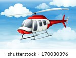 Illustration of a helicopter flying