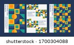 geometric abstract poster with... | Shutterstock .eps vector #1700304088