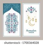ramadan kareem greeting card....   Shutterstock .eps vector #1700364028