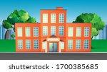 vector illustration of a school ... | Shutterstock .eps vector #1700385685