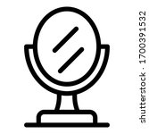 table mirror icon. outline... | Shutterstock .eps vector #1700391532