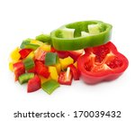 Mix Pepper Isolated On White...