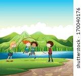 illustration of the kids... | Shutterstock .eps vector #170040176
