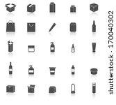 packaging icons on white...   Shutterstock .eps vector #170040302