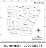 arkansas state outline...   Shutterstock .eps vector #1700425375