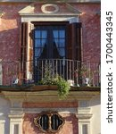 Baroque Facade And Balcony In...