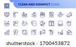 outline icons about clean and... | Shutterstock .eps vector #1700453872