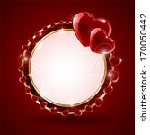 red valentines background with... | Shutterstock .eps vector #170050442