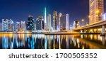 dubai city center skyline at...   Shutterstock . vector #1700505352