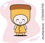 cute bread character vector... | Shutterstock .eps vector #1700549755