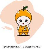 cute orange character vector... | Shutterstock .eps vector #1700549758