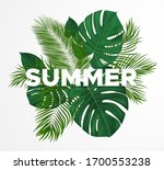 summer tropical design with...   Shutterstock .eps vector #1700553238