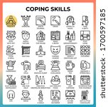coping skills concept line...