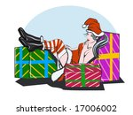 vector illustration of a pretty ... | Shutterstock .eps vector #17006002