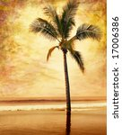 A Sepia Toned Palm Tree Done In ...