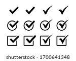 check mark icon set  check mark ...   Shutterstock .eps vector #1700641348