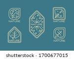 set of logo leaves nature | Shutterstock .eps vector #1700677015