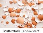 Eggshell On White Background ...