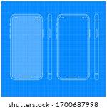 blueprint smartphone outline...