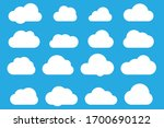 set of clouds in blue sky.... | Shutterstock .eps vector #1700690122